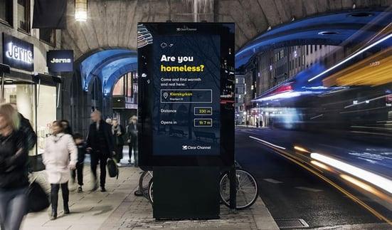 Clear channel digital billboard