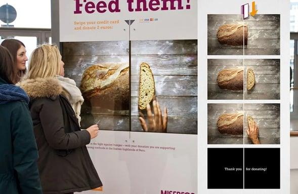 Misereor interactive billboard
