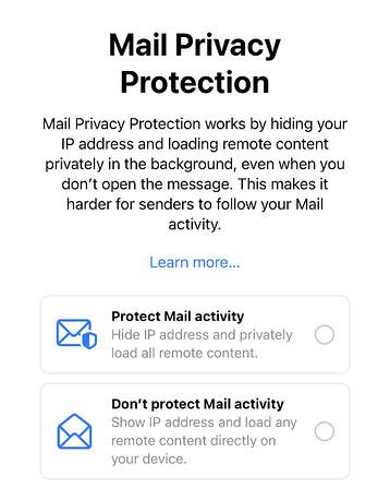 apple mail privacy protection